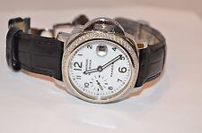 W637- PANERAI  LUMINOR MARINA - 40MM STAINLESS STEEL OP 6529 w/ 2 ROW DIAMONDS