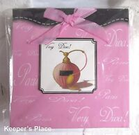 VERY DIVA Large Note Pad Paris Pink Perfume Bottle Black Trim New In Package