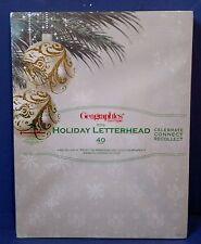 "Ornaments & Pine Christmas Holiday Letterhead, 8.5""x11"", 40Ct ~ Free Shipping"