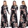 Muslim Women Abaya Long Sleeve Maxi Dress Jilbab Islamic Kaftan Robes Gown Dubai