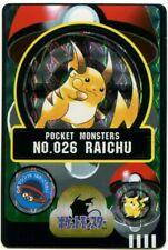 Pokemon Card Japanese Raichu No. 026 Bandai Sealdass Holo 1997 M/NM