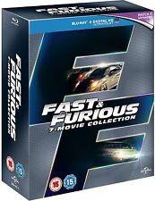 Fast & Furious 1 2 3 4 5 6 & 7 Blu-ray Box Set New Sealed