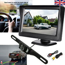 "Reversing Camera Parking Kit 170° Back View For Car Truck 4.3"" TFT LCD Monitor"