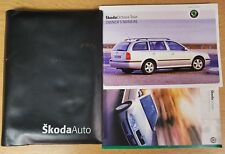 SKODA OCTAVIA TOUR HANDBOOK OWNERS MANUAL WALLET 2000-2005 PACK E-100