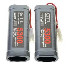 2 x GTL 7.2V 5300mAh Ni-Mh batteria ricaricabile RC Tamiya Plug Grigio