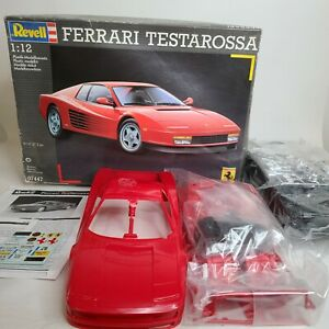 Revell Model 1:12 Scale Ferrari Testarossa, Open Box, Box Damage, Unused 07447