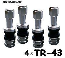 4 X TR43 Clamp In Metal Tubeless Japanese Car Wheel Tyre Valve Stem Dust Cap
