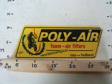 GASTON RAHIER WORLDCHAMPION POLY-AIR FOAM AIR FILTERS OSS HOLLAN LARGE STICKER