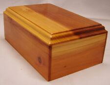 Medium redwood pet cremation urn - handmade wood