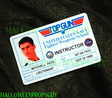TOP GUN Style Pete Maverick Mitchell ID Card PVC Prop Replica Tom Cruise USA