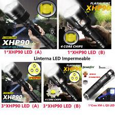 Linterna LED Recargable Zoom Táctica Impermeable Trabajo Luz de Alta Potencia