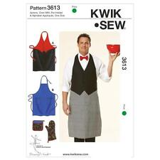 KWIK SEW SEWING PATTERN APRON OVEN MITT POT HOLDER & ALPHABET APPLIQUES K3613