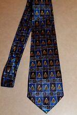 Fraternal Organization Mason New Blue Polyester Neck Tie! #1853 Free Shipping