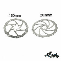 160/203mm Bike Brake Rotor MTB/Road Bicycle Brake Disc 6-bolt For Shimano Sram