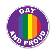 2 x GAY AND PROUD- Rainbow Pride Flag Car Van vinyl Self Adhesive stickers
