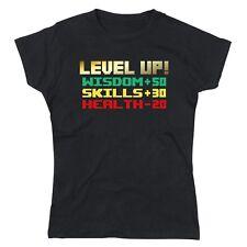 Level Up Birthday Wisdom Skill Health Ladies Tshirt T-Shirt Tee Top