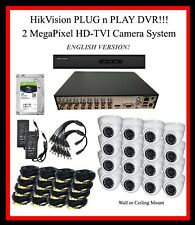 16 Ch HikVision 4TB HD DVR System, 2MP TVI Cameras - Plug-N-Play!!  w/SUPPORT!!