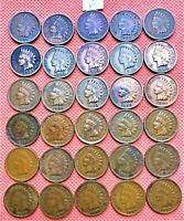 1895-1907 INDIAN HEAD CENTS, PENNY, 30 HIGH GRADE COINS #6