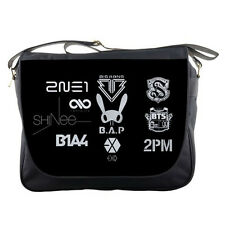 Kpop Shinee BAP Big Bang BTS Logo School Sling Travel Messenger Bag Men Women