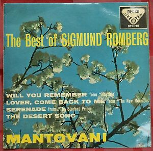Sigmund Romberg – The Best Of 17.8cm EP – STO 125 – VG