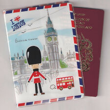 I love London Great Britain UK Big Ben Passport Holder cover bag holiday gift