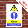 Warning fragile roof sign CONS032 Site notices and safety signs