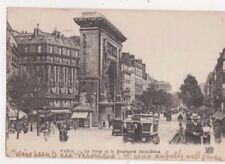 Paris La Porte & Le Boulevard Saint Denis France Vintage Postcard US076