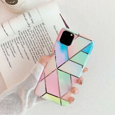 Plating Colorful Geometry Marble Soft Case Cover For iPhone 11 Pro Max XR X 7 8