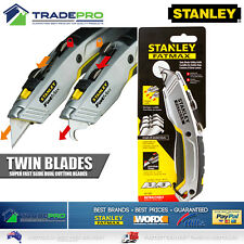 Stanley Knife Fatmax PRO Twin Blade Retractable Utility with 4 Blades & Holster