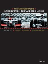 NEW Fox and McDonald's Introduction to Fluid Mechanics Pritchard 9 ed Hardcover