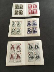 CARNETS CROIX-ROUGE NEUFS ** 1956/1958/1959 COTE 178€