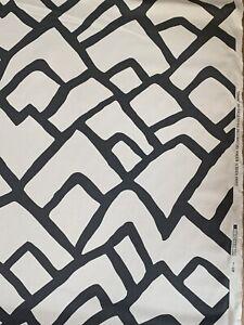 5.55 meter length Schumacher Zimba Fabric Charcoal linen union