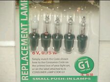 NOMA G1 GENUINE BULBS 5 CLEAR AND 1 FUSE.YOU HAVE SEEN THE REST BUY THE BEST.