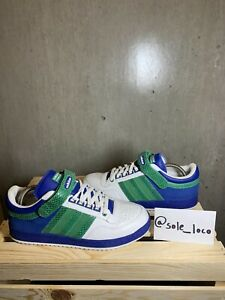 Adidas Sample Concord Leather/Suede Shoes Retro White Green BlueMens Sz 9 Low