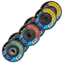 Blue Spot 40, 60 & 80 Grit Aluminium Oxide Flap Disc - 6 Discs per pack