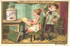 6 litho chromo cards c1888 LIEBIG 197, compl. set Kinderszenen II children rare