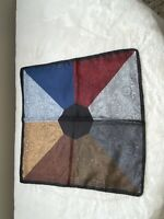 Made In Italy Vintage 100% Silk Scarf Pocket Square Hand Rolled By ASHEAR