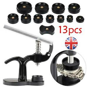 13 X Modern Watch Back Press Closer Watchmaker Set Crystal Repair Tool Black UK