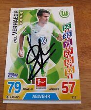 match attax signiert Paul Verhaegh VfL Wolfsburg   NEU