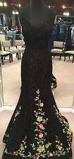 Sherri Hill 50778 Pageant, Prom Dress, Formal Gown (Black/Multi, Size 10)