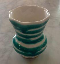 alte Kleine Vase , Gmundner Keramik grün geflammt