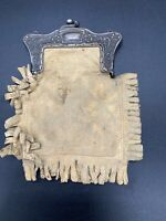 Victorian Leather fringe Coin Purse late 1800's Cowboy Cowgirl Country