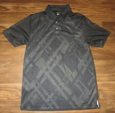 Pga Tour Pro Series Mens Short-Sleeve Shirt, Black, Pattern, Size M, Euc