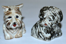 CUTE VINTAGE JAPAN SCOTTIE, SCOTTISH, WEST HIGHLAND TERRIER SALT & PEPPER SHAKER