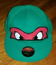 Teenage Mutant Ninja Turtles Snapback Flat Bill Hat RAPHAEL Trucker Cap NMNT new