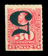 CHILE 1900 Columbus  5c /30c carmine - INVERTED SURCHARGE - Sc# 50a mint MH