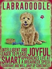 Dog Metal Sign - Labradoodle- Metal Sign Nostalgic  Gift 20cm x 15cm