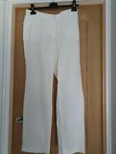 WOMENS WHITE LINEN TROUSERS FROM H&M SIZE 10