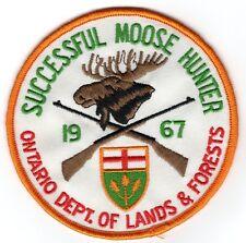 1967 Ontario Successful Moose Hunting Patch Michigan Bear Deer Turkey #1