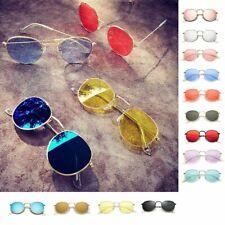 Damen Herren Sonnenbrille Nerd Brille Retro Nickelbrille Verspiegelt 80er Hippie
